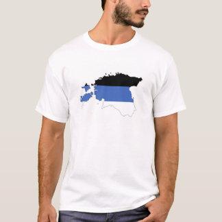 Estland-Landesflaggekarten-Formsymbol T-Shirt