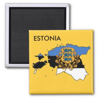Estland-Magnet! Quadratischer Magnet