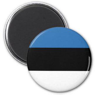 Estnisches Falg Runder Magnet 5,7 Cm