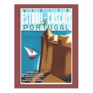 Estoril-Cascais Portugal Vintages Reise-Plakat Postkarten