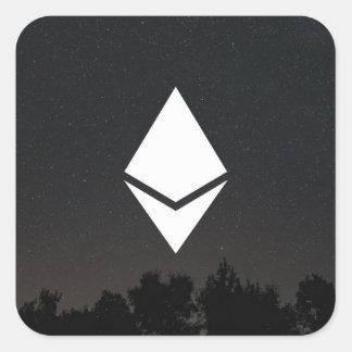 Ethereum quadratischer Aufkleber