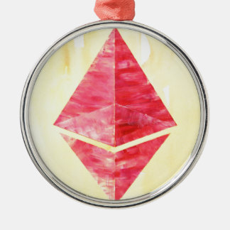 Ethereum Silbernes Ornament