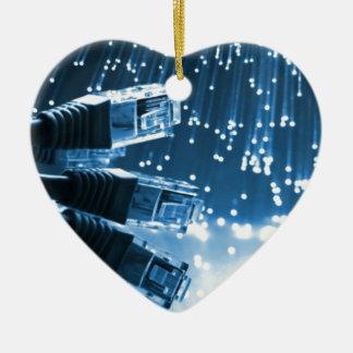 Ethernet-Verbindungsstück Keramik Herz-Ornament