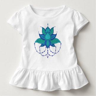 Ethnische Blumenlotos Mandalaverzierung Kleinkind T-shirt