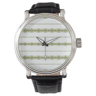 Ethnische Blumenstreifen Armbanduhr