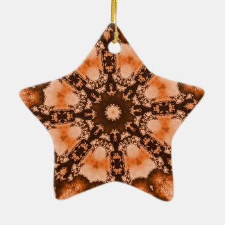 Ethnische böhmische Mandala orange tiedye Trippy Keramik Ornament