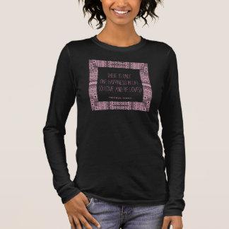 Ethnische Boho-Chic 3 Liebe-Wedding Zitat-T-Stück Langarm T-Shirt