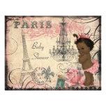 Ethnische Eiffelturm-Babyparty Prinzessin-Paris Personalisierte Einladungen