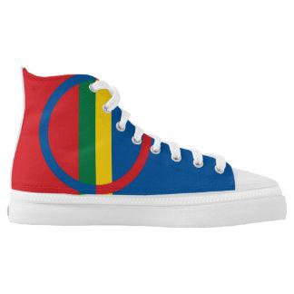 ethnische Flagge sami Leute Hoch-geschnittene Sneaker