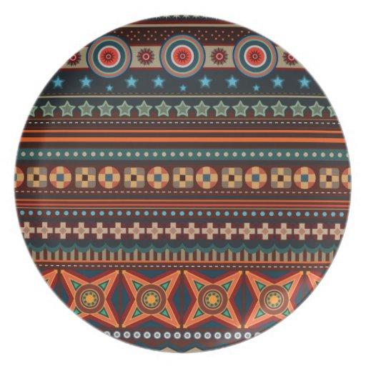 ethnische geb rtige indische muster platte party teller zazzle. Black Bedroom Furniture Sets. Home Design Ideas