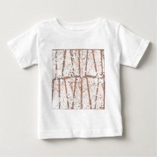 ethnische Verzierung der braunen Abstraktion Baby T-shirt
