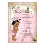 Ethnische Vintage Paris-Baby-Dusche 11,4 X 15,9 Cm Einladungskarte