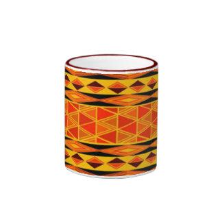 Ethnischer afrikanischer Tassenentwurf Ringer Tasse