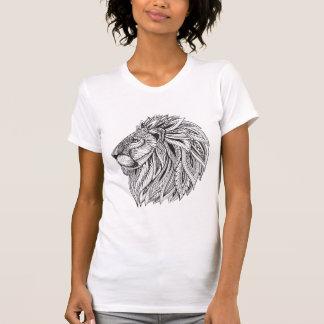 Ethnischer gemusterter Löwe-Kopf T-Shirt