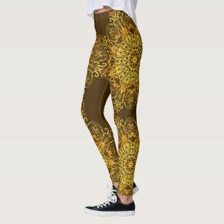 Ethnischer goldener Mandala. Leggings