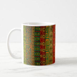 Ethnischer Stammes- Textilentwurf Kaffeetasse