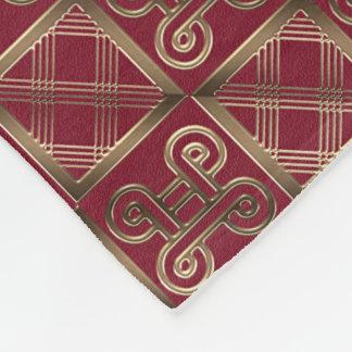 Ethnisches afrikanisches Muster mit Adinkra Fleecedecke