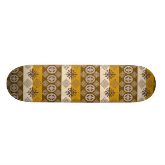 Ethnisches afrikanisches Muster mit Adinkra Personalisiertes Skatedeck