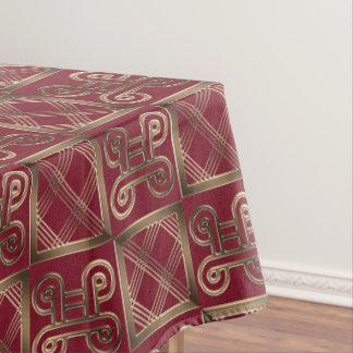 Ethnisches afrikanisches Muster mit Adinkra Tischdecke