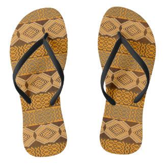 ethnisches afrikanisches Stammes- geometrisches Flip Flops
