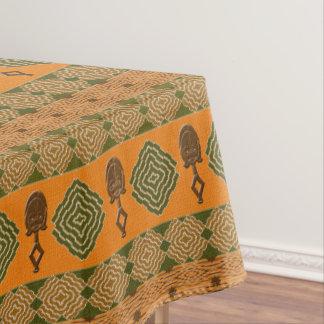 Ethnisches afrikanisches Stammes- gestreiftes Tischdecke