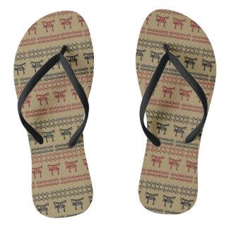 ethnisches afrikanisches Stammes- Muster Flip Flops