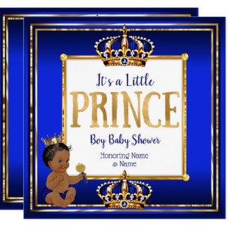 Ethnisches Babyparty-Königsblau-Gold Prinz-Boy Karte