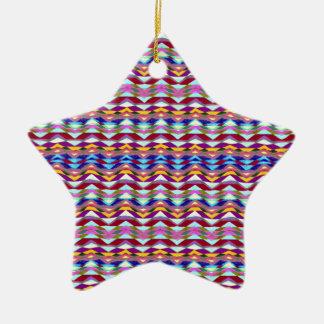 Ethnisches buntes Muster Keramik Ornament
