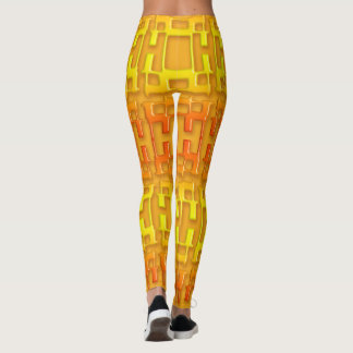 Ethnisches geometrisches orange Muster Leggings