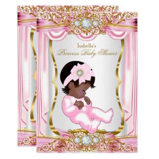 Ethnisches hübsches Duschen-Rosa-Seide-Gold Karte