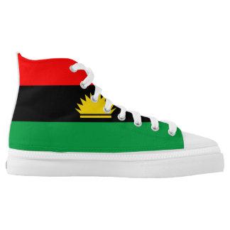 Ethnisches Symbol Biafra Flagge Hoch-geschnittene Sneaker