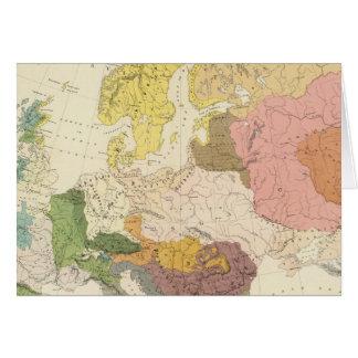 Ethnographisch, Europa Karte