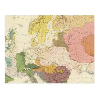 Ethnographisch, Europa Postkarte