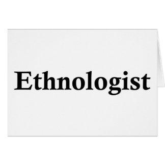 Ethnologist Grußkarte