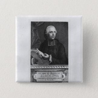 Etienne Bonnot de Condillac Quadratischer Button 5,1 Cm