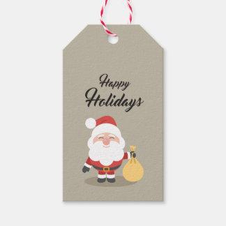 Etikett für Geschenk Happy Holidays Heilig 2 Geschenkanhänger
