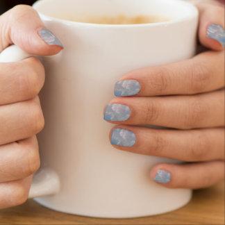 Etwas blaue Braut-Brautjungfern-Zusätze Minx Nagelkunst