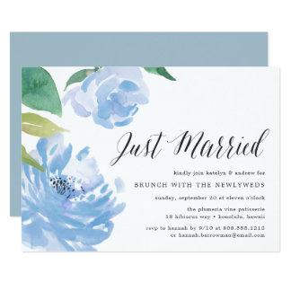 Etwas blaue | Posten-Hochzeits-Brunch-Einladung Karte