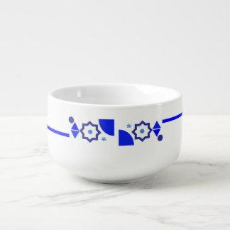 Etwas blaue Suppen-Tasse Große Suppentasse