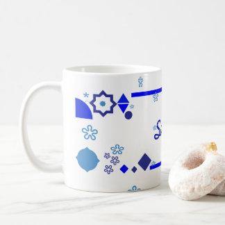 Etwas blaue Tasse Kaffeetasse