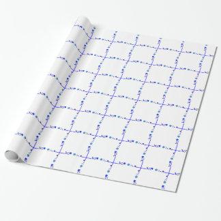 Etwas blaues Geschenk-Verpackungs-Papier Geschenkpapier