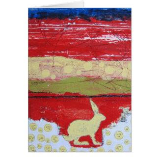 Etwas Häschen Notecard - Kunst durch Dan Robertson Karte