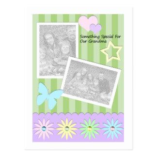 Etwas speziell für unsere Großmutter Postkarte