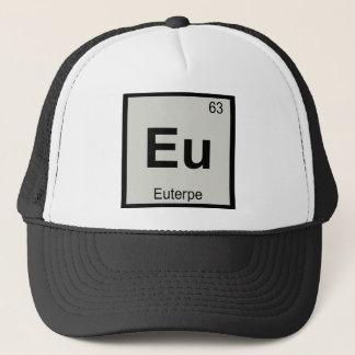 Eu - Euterpe-Muse-Chemie-Periodensystem-Symbol Truckerkappe