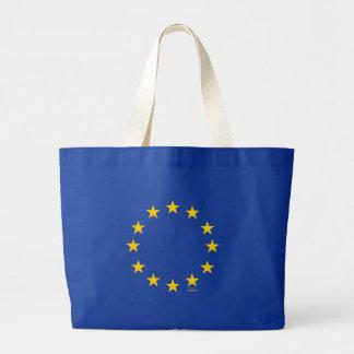 EU-Flagge (europäische Gewerkschaft) Jumbo Stoffbeutel
