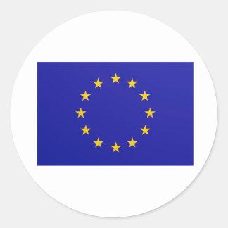 EU-Flagge Runder Aufkleber