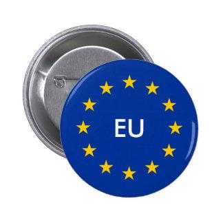 EU kennzeichnen Knöpfe kundenspezifische runde Runder Button 5,7 Cm