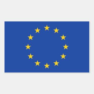 EU kennzeichnen Rechteckiger Aufkleber