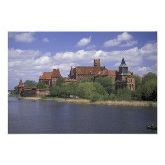 EU Polen Pommern Malbork Europas Kunst Fotos