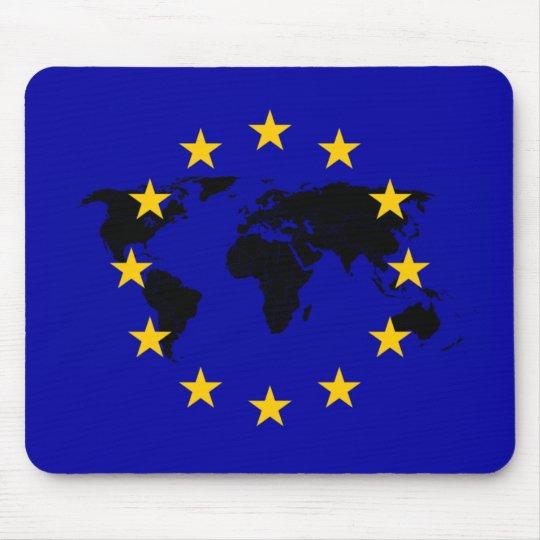 EU Star World Flag Mauspad